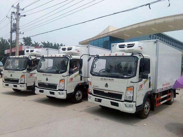重汽hao沃4.1米货厢冷藏车