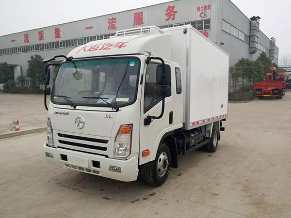 大运排ban3.75米货厢冷藏车