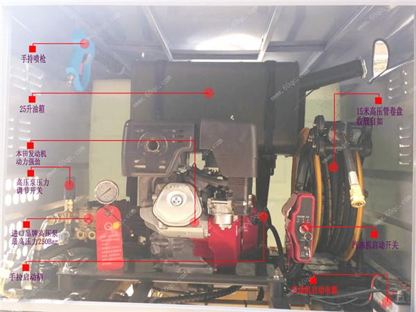 三轮清洗车内部结构图