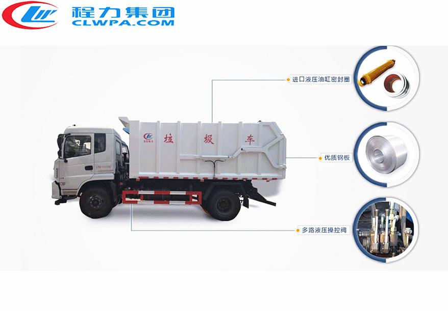 程力对接垃圾车主要部件分解图