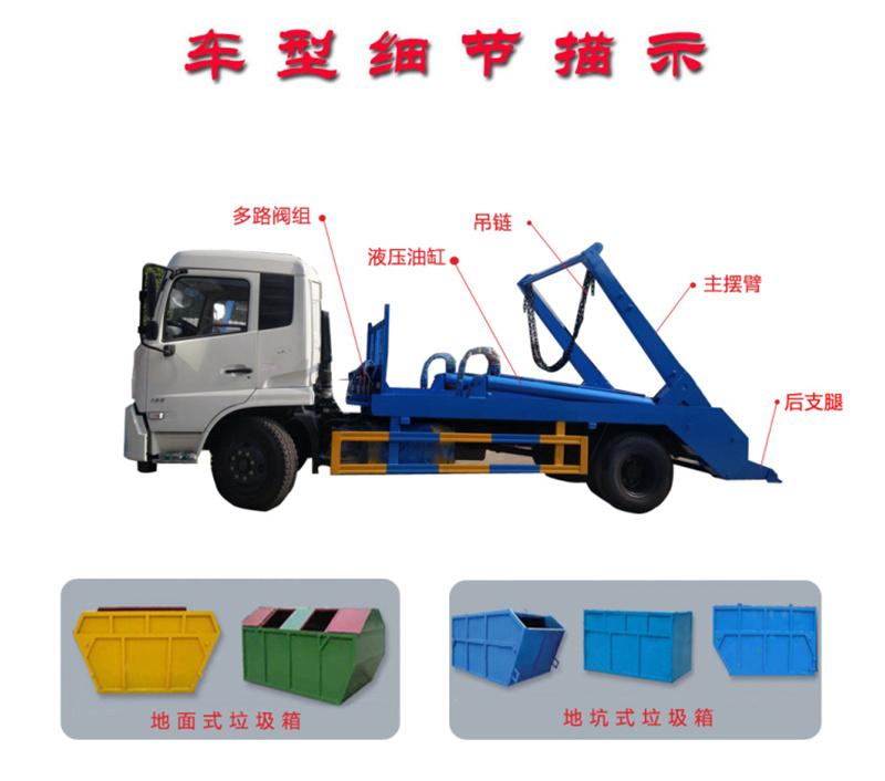 摆臂垃圾车细节描述